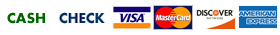 Payment methods accepted from Scott Waste - cash, check, visa, Mcard, discover, Amex