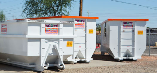construction dumpster rental for contractors in Phoenix Arizona and surrounding cities